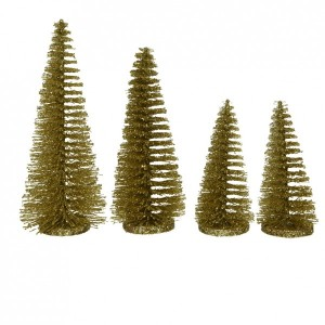 Lot de 4 sapins Ulrika Or intense