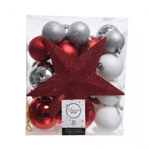 Kit de décoration de sapin de Noël Novae multi Blanc / Rouge