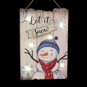 Panel Muñeco de nieve luminoso Blanco cálido 6 LED