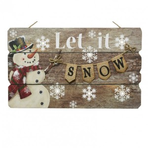 Pannello Let it snow luminosi Bianco caldo 6 LED