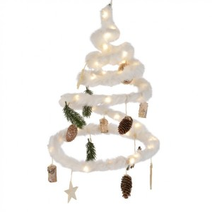 Decoratieve kerstboom Spiraal naturel warmwit