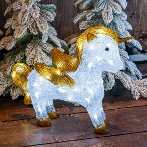 Unicornio luminoso Starla Blanco frío 40 LED