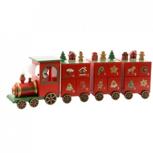 Calendrier de l'Avent petit train rouge