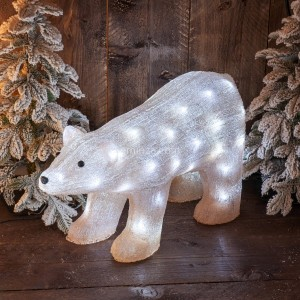 Ours lumineux Cannelle Blanc froid 50 LED