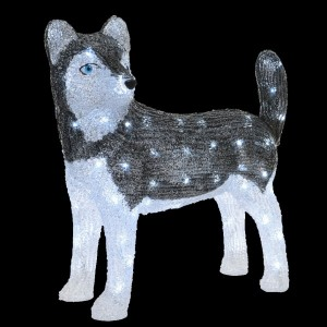 Chien lumineux Snowy Blanc froid 80 LED