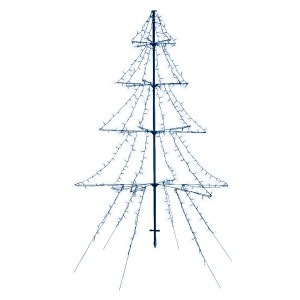 Árbol luminoso Blanco frío 420 LED
