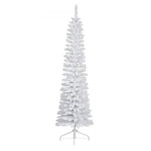 Sapin artificiel de Noël Narrow H240 cm Blanc
