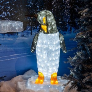 Pinguino luminoso Happy Blanco frío 200 LED