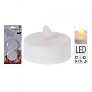 2er Set LED Teelichter  Warmweiß