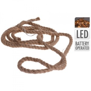 Ghirlanda luminosa corda Rope Bianco caldo 30 LED