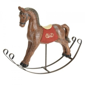 Cavallo a dondolo Rocking marrone