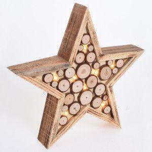 Estrella luminosa Claus Blanco cálido