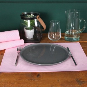 Lot de 6 sets de table Bicolor Rose fané