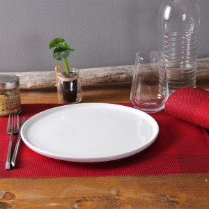 Set van 6 placemats Bicolor Rood