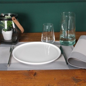 Lot de 6 sets de table Bicolor Gris souris