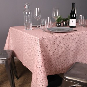 Nappe rectangulaire enduite (L300 cm) Eventail Rose