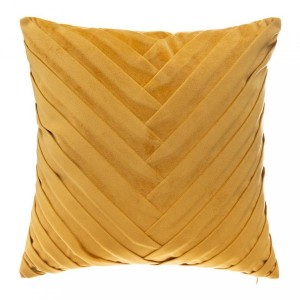 Coussin velours (40 cm) Tresseo Jaune ocre