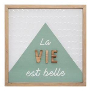 Wanddecoratie Relief Triangle Hout