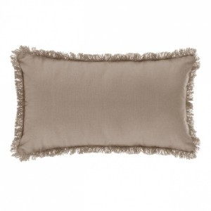 Coussin rectangulaire Datara franges Lin