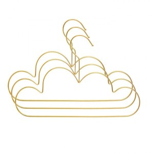 Set van 3 kledinghangers Cloud Goud
