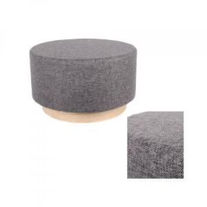 Pouf (60 cm) Scandinavie Gris anthracite