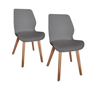 Lot de 2 chaises Ley Grises