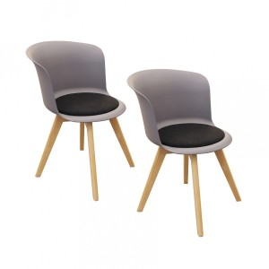 Lot de 2 chaises Enko Grises