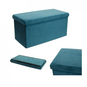 Puf plegable Doble Margot Azul