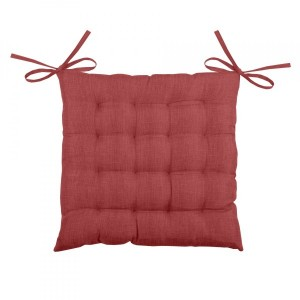 Coussin de chaise Béa 16 points Rouge carmin