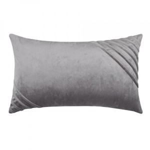 Coussin velours rectangulaire Tania Gris