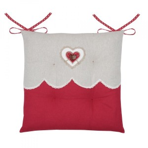 Coussin de chaise Lyna Rouge