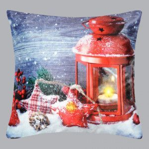 Coussin LED (45 cm) Balthazar Rouge