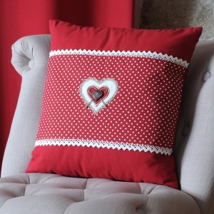 Coussin (40 cm) Lyna Rouge