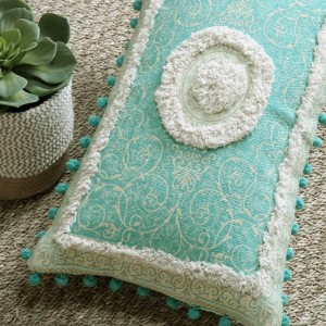 Coussin rectangulaire Riad Vert