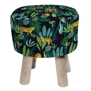 Tabouret Mystic Jungle Noir