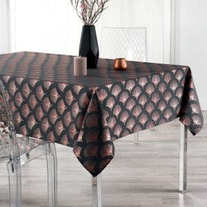 Nappe rectangulaire (L300 cm) Goldy Gris anthracite