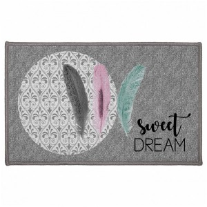 Tapis multi-usage (80 cm) Sweet trio Gris