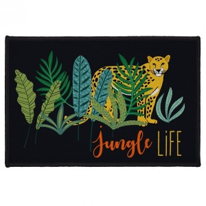 Tapis multi-usage (60 cm) Mystic Jungle Noir