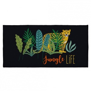 Tapis multi-usage (115 cm) Mystic Jungle Noir