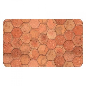 Tapis (75 cm) Tomettia Orange ocre