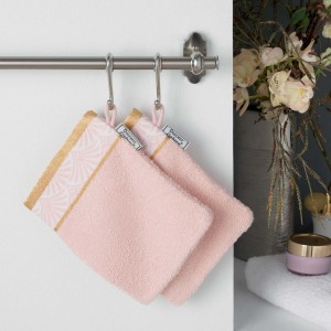 Lot de 2 gants de toilette Goldy Rose