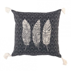 Coussin (40 cm) Eternity Gris anthracite