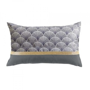 Coussin rectangulaire Duchesse Gris anthracite