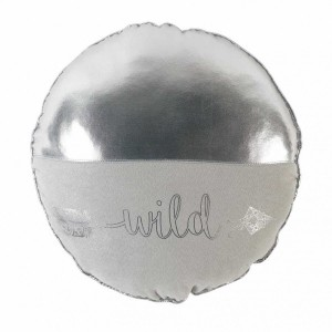 Coussin rond Metallic Wild Argent