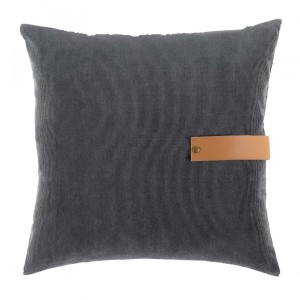 Cojín velours (40 cm) Milleray Gris anthracite