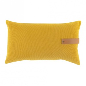 Coussin velours rectangulaire Milleray Jaune