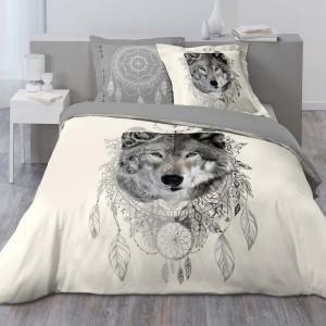 Flanelle De Couette Couette Parure de lit aux motifs imprimés Avec Assorti Taies