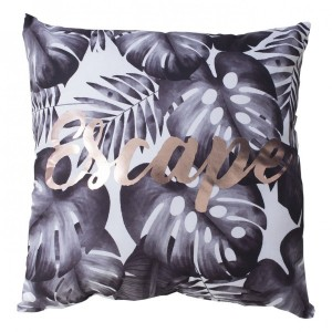 Coussin (40 cm) Leaves Blanc