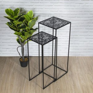 Lot de 2 tables d'appoint gigognes Havana Noires