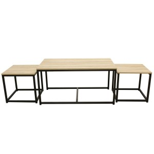 Lot de 3 tables basses Seattle Noires